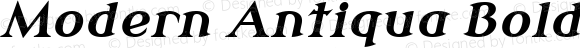 Modern Antiqua Bold Oblique