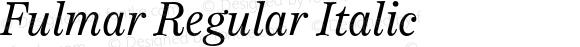 Fulmar Regular Italic