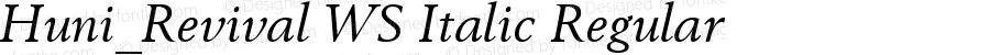 Huni_Revival WS Italic Regular 1.0,  Rev. 1.65.  1997.06.09