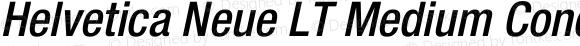 Helvetica Neue LT Medium Condensed Oblique