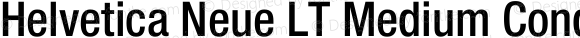 Helvetica Neue LT Medium Condensed