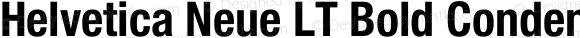 Helvetica Neue LT Bold Condensed