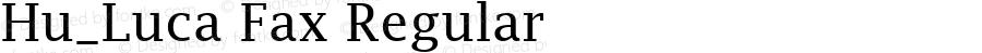 Hu_Luca Fax Regular 1.0, Rev. 1.65  1997.06.07