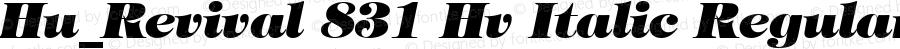 Hu_Revival 831 Hv Italic Regular 1.0, Rev. 1.65  1997.06.10