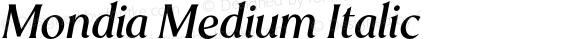 Mondia Medium Italic