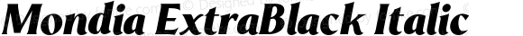 Mondia ExtraBlack Italic