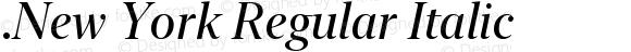 .New York Regular Italic