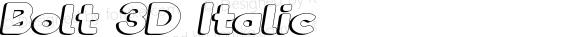 Bolt 3D Italic
