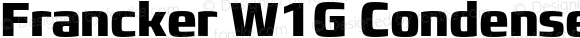 Francker W1G Condensed Extra Bold