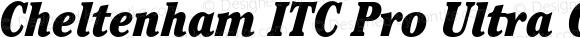 Cheltenham ITC Pro Ultra Condensed Italic