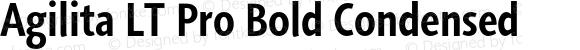 Agilita LT Pro Bold Condensed