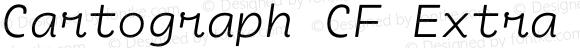 Cartograph CF Extra Light Italic