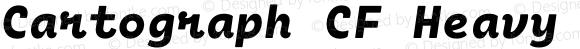 Cartograph CF Heavy Italic