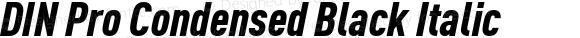 DIN Pro Condensed Black Italic