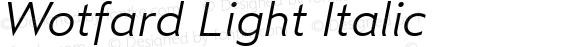 Wotfard Light Italic