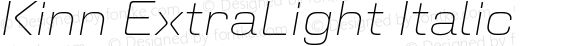 Kinn ExtraLight Italic