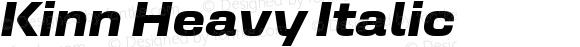 Kinn Heavy Italic