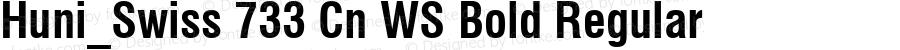Huni_Swiss 733 Cn WS Bold Regular 1.0, Rev. 1.65  1997.06.10
