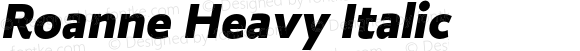 Roanne Heavy Italic