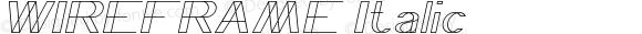 WIREFRAME Italic