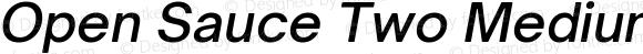 Open Sauce Two Medium Italic