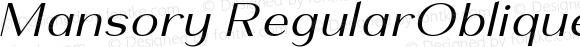 Mansory RegularOblique