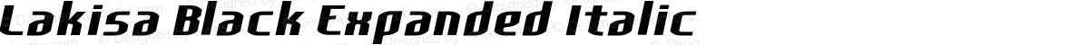 Lakisa Black Expanded Italic