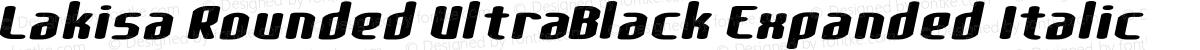 Lakisa Rounded UltraBlack Expanded Italic