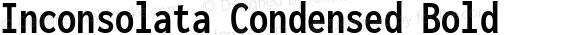 Inconsolata Condensed Bold