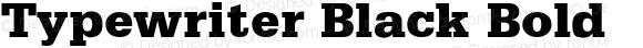 Typewriter Black Bold