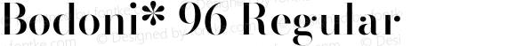 Bodoni* 96 Regular