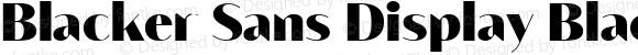 Blacker Sans Display Black