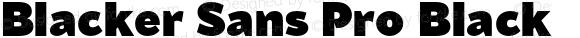 Blacker Sans Pro Black