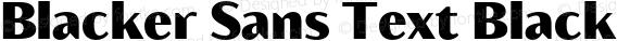 Blacker Sans Text Black