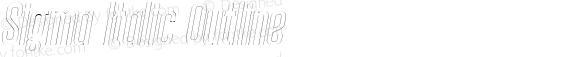 Sigma Italic Outline