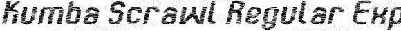 Kumba Scrawl Regular Expanded Italic