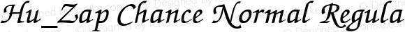 Hu_Zap Chance Normal Regular 1.0, Rev. 1.65  1997.06.04