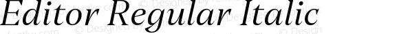 Editor Regular Italic