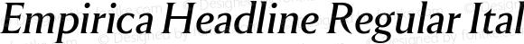 Empirica Headline Regular Italic