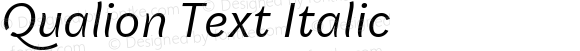 Qualion Text Italic