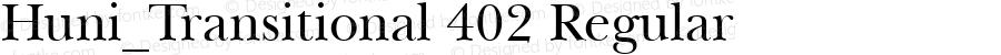 Huni_Transitional 402 Regular 1.0, Rev. 1.65  1997.06.11