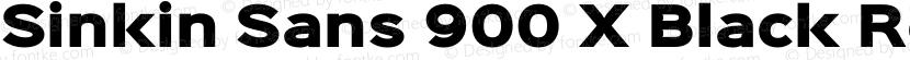 Sinkin Sans 900 X Black Regular Preview Image