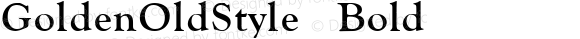GoldenOldStyle Bold