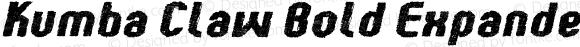 Kumba Claw Bold Expanded Italic