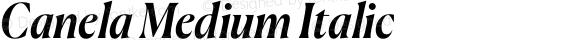 Canela Medium Italic