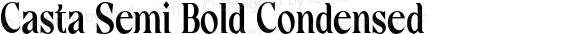 Casta Semi Bold Condensed