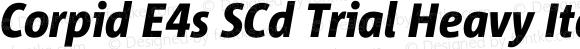 Corpid E4s SCd Trial Heavy Italic
