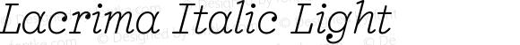 Lacrima Italic Light