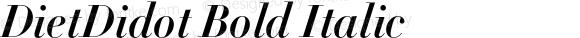DietDidot Bold Italic
