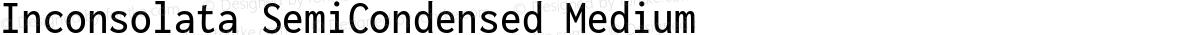 Inconsolata SemiCondensed Medium